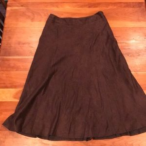 Chocolate brown lined skirt